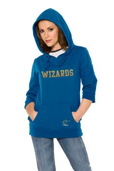 Touch by Alyssa Milano Washington Wizards Laser Cut 3/4 Sleeve Pullover Hoodie