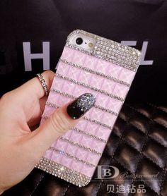 """Bling Rhinestone Hard Fitted Case Cover Skin For Apple iPhone 6 Size 4.7"""" Pink #UnbrandedGeneric"""