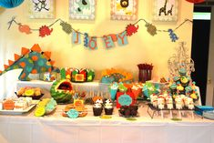 dinosaur party food - Google Search