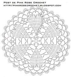 ISSUU - Small crochet lace by vlinderieke Irish Crochet Patterns, Crochet Circles, Crochet Doily Patterns, Crochet Diagram, Crochet Round, Crochet Squares, Crochet Chart, Crochet Home, Thread Crochet