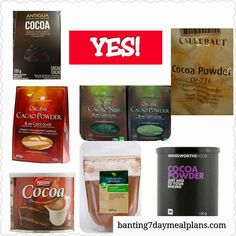 Banting Diet, Banting Recipes, Lchf, Keto, 7 Day Meal Plan, Cacao Nibs, Cacao Powder, Cocoa, Meal Planning
