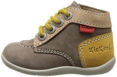 Kickers Bonbon - Patucos de cuero para niño gris Gris (Gris/Beige) 18: Amazon.es: Zapatos y complementos