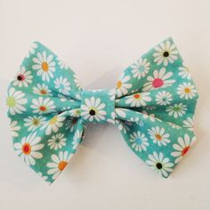 blue floral hair bow turquoise Hair Bow for by sundriedstars19, $4.00