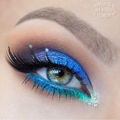 Dreamy eyes fit for a mermaid! @Katosu is wearing #sugarpill Idol false eyelashes in this gorgeous look.