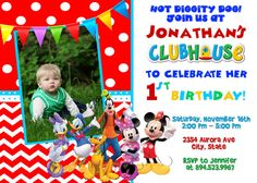 Mickey Mouse Clubhouse Birthday Party by FunPartyInvitation, $8.99