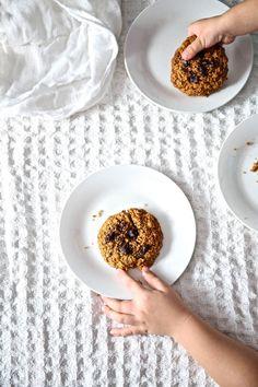 Dyniowe ciasteczka owsiane (wegańskie i bez glutenu) - przepis Marty