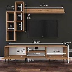 Tv Unit Furniture Design, Tv Unit Interior Design, Tv Wall Design, Tv Unit Decor, Tv Decor, Modern Tv Wall Units, Living Room Partition, Living Room Tv Unit Designs, Home Room Design
