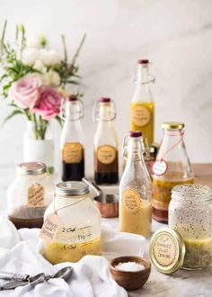 Easy Salad Dressing Recipes - Long Shelf Life, Ready To Use www. French Vinaigrette, French Salad Dressings, Asian Sesame Dressing, Honey Mustard Dressing, Italian Dressing Recipes, Salad Dressing Recipes, Slaw Dressing, Salad Recipes, Mayonnaise