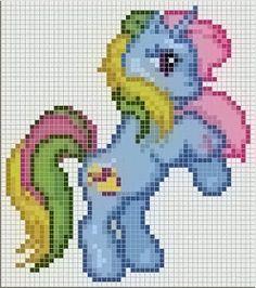 Cro Knit Inspired Creations By My Little Pony Charts Crochet Cross, Crochet Chart, Cat Cross Stitches, Cross Stitching, Cross Stitch Designs, Cross Stitch Patterns, Unicorn Cross Stitch Pattern, Diy Perler Beads, Bead Loom Patterns