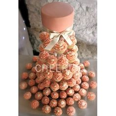 -Cheerico 6 Tier Large Round Maypole Wedding Acrylic Cupcake Stand Tree Tower Cup Cake Display