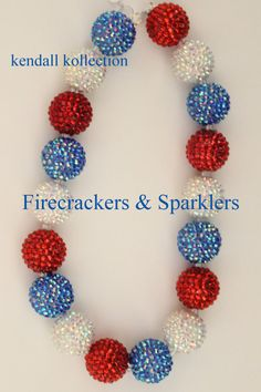 Firecrackers & Sparklers Chunky Beaded by theKendallKollection, $28.50