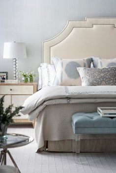 Monochromatic Grey/Blue Bedroom