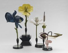 Four R. Brendel Mixed Media Floral Botanic Models : Lot 1003