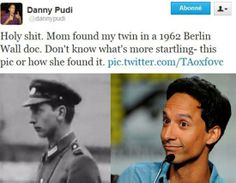 14 Time Travelling Celebrities   10. Danny Pudi from NBC's Community was shocked when his mother found a childhood photo of him back in 1962.