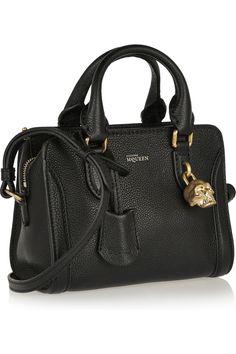 Alexander McQueen Padlock mini textured-leather shoulder bag NET-A-PORTER.COM