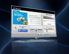 """Smart TV de """" la Caixa """". Descárgala en   www.lacaixa.es/smartTV"""