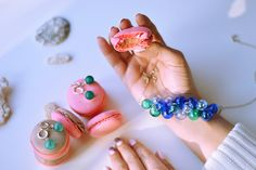 Macarons and jewelry