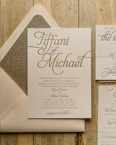 Wedding Invitation Inspiration - gold invitation copy