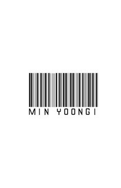 Bangtan BTS Suga Barcode Design KPOP
