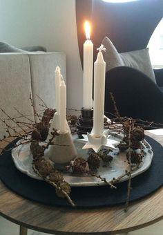 Coron, Nordic Christmas, Xmas, Christmas Inspiration, Christmas Ideas, Wreaths, Candles, Holiday, Nice Things