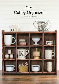 DIY Cubby Organizer