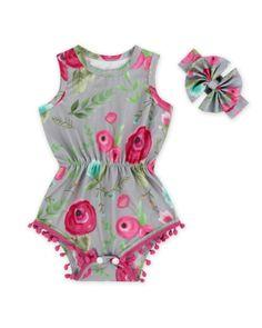 ecb612b8115 Chloe Floral Pom Pom Romper. Best Baby Shower Gifts
