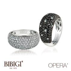 #Bibigi : Anelli in oro bianco e rosa, diamanti, diamanti black, zaffiri, rubini e smeraldi.