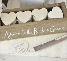 Advice for the Bride and Groom - not sure what makes this one different from all the rest, but I really like this!