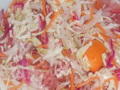 Pikliz - Spicy Haitian slaw. Recipe here. This is so delightful with sweet fried plantain. My favorite food combo in Haiti