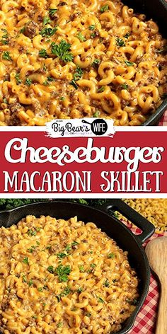 hamburger meat recipes How many of yall have tried to make Homemade Hamburger Helper before This Cheeseburger Macaroni Skillet is my version of that favorite childhood dinner! Hamburger Helper Maison, Homemade Hamburger Helper, Easy Recipes With Hamburger, Easy Ground Turkey Recipes, Supper Ideas With Hamburger, Healthy Hamburger, Ground Beef Recipes For Dinner, Dinner With Ground Beef, Homemade Cheeseburgers