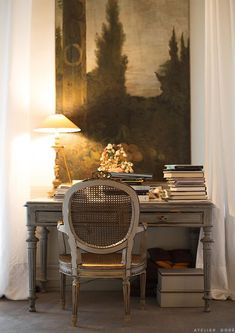 At Home with Marie-France lifestyle interior marie france cohen atelier dore photo French Country Bedrooms, French Country House, French Cottage, French Decor, French Country Decorating, Interior And Exterior, Interior Design, Room Interior, Home Office