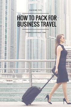 Pack a girl boss business travel outfit with my packing tips for work travel!  It's easy to create a work travel capsule wardrobe from a few key pieces.  Click through to see mine! #girlboss