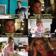 Oliver E Felicity, Arrow Oliver, Arrow Flash, Cw Dc, Movies And Series, Emily Bett Rickards, Dc Legends Of Tomorrow, Supergirl And Flash, Stephen Amell
