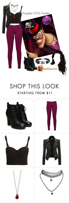 """Disney's Descendants: #6 Daughter Of Doctor Facilier"" by unbreakablekatniss ❤ liked on Polyvore featuring Great Plains, SELECTED, Sweet Romance, Wet Seal and Bling Jewelry"