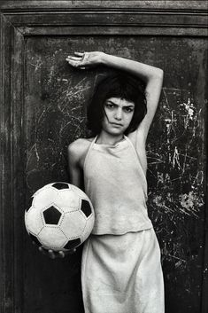 Letizia Battaglia: La bambina con il pallone, quartiere la Cala. Palermo, 1980. Though known for her mafia-related images, Ms. Battaglia also focused her lens on women and girls, like this one photographed in Palermo in 1980. Credit Letizia Battaglia