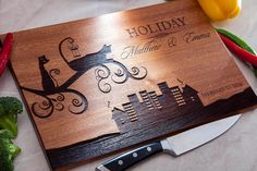 Personalized Cutting Board Engraved Kitchen Home by IntraSStudio