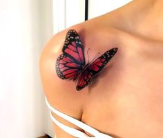 Butterfly Tattoo/ Schmetterling Tattoo/ by Martin Stauch Tatuagem de borboleta / Schmetterling Tattoo de Martin Stauch Dope Tattoos, 3d Tattoos, Pretty Tattoos, Beautiful Tattoos, Body Art Tattoos, Sleeve Tattoos, Tattoo Sleeves, Temporary Tattoos, Tattos