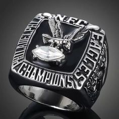 Cheap football championship rings, Buy Quality super bowl ring directly from China championship rings Suppliers: Hot Sale 1980 Philadelphia Eagles National Football Championship Rings American Super Bowl Rings For Fans Collection Rugby Championship, Championship Rings, Philadelphia Eagles Super Bowl, Super Bowl Rings, Superbowl Champions, Nfl Fans, Football Fans, Mens Silver Rings, Size 10 Rings