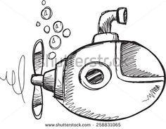 submarine doodle - Google Search