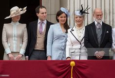 Lady Gabriella Windsor, Lord Frederick Windsor, Sophie Winkleman, Princess Michael of Kent and Prince Michael of Kent during the Trooping the Colour, this year marking the Queen's 90th birthday at The Mall on June 11, 2016 in London, England. The ceremony is Queen Elizabeth II's annual birthday parade and dates back to the time of Charles II in the 17th Century when the Colours of a regiment were used as a rallying point in battle.