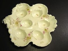 Quail-Egg-Plate-6-Well-marked-Bavarian-China-Germany