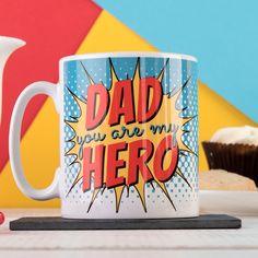 Personalised Mug - Dad, My Hero | GettingPersonal.co.uk