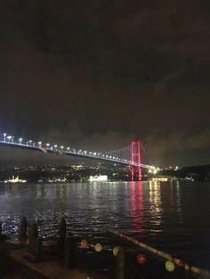 Istanbul City, Istanbul Turkey, Nature Wallpaper, Iphone Wallpaper, Story Time, Golden Gate Bridge, Karma, Snapchat, Night