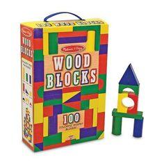 Melissa and Doug 100 Wood Blocks Set - 481