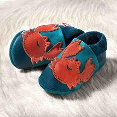 Chaussons en cuir bébé crabe - Pololo