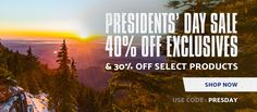 Presidents' Day Sale - 40% off Exclusive Collection, plus 30% off. Use code:PRESDAY- Shop Now.