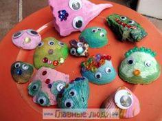 Детские поделки из ракушек, поделки из ракушек для детей (30)