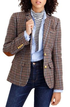 J.Crew Rhodes Houndstooth Wool Blazer (Regular & Petite) available at #Nordstrom
