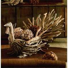 Driftwood Turkey. Gobble. Gobble. Realistic wattles and hand-carved head lends detail to our Driftwood Turkey Bowls. Natural driftwood is used to form each hand-crafted gobbler. Fill with botanical objects, a vessel with a floral arrangement or pumpkins and gourds for a colorful, festive centerpiece.