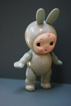 Celluloid Bunny Girl Doll